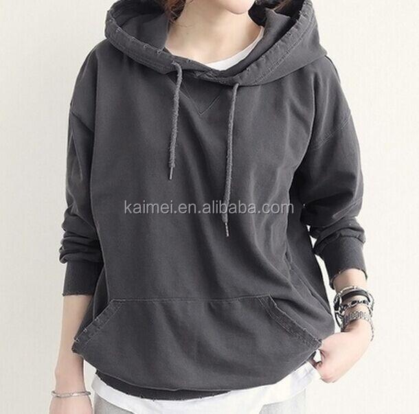 Plain Grey Thin Single Jersey Hoodie Lightweight Dark Gray Hoodies For  Ladies Woman 19053f62a