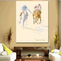 Cowboy Oil Painting Print on Canvas Wholesale For Home Decoration Free Sample