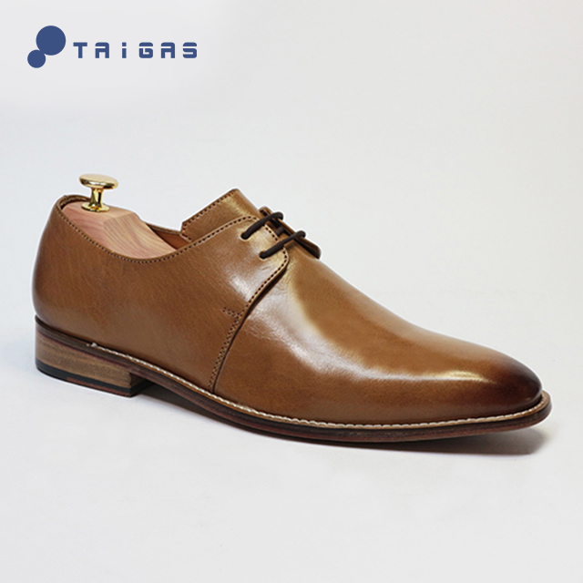 dress fashion 2018 formal style Italian genuine men's derby brown leather High men handmade quality shoe BqwOp