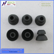 HZ-240 Two layer Bullet shape Soft touch Monochrome silicone rubber earplugs/eartips/earcovers