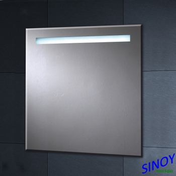 Silver Mirror Made Sandblasting Bathroom For Led Backlit