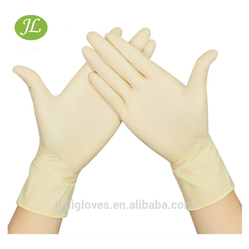 Latex gloves work latest disposable examination non-sterile powder/powder free textured smooth medical surgical manufacturers