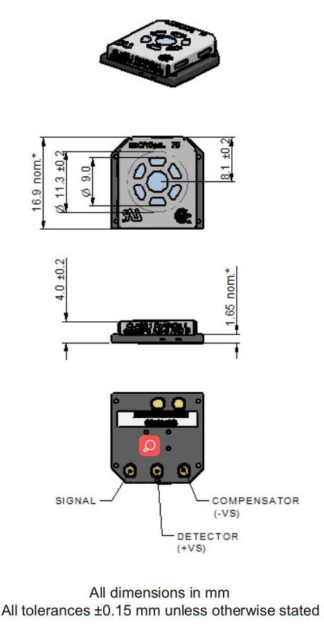 Sensor da cidade micropel 75c MICROPEL-75 MICROPEL-75C
