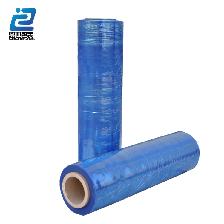 china manufactured strong usa blue film/LLDPE stretch film roll