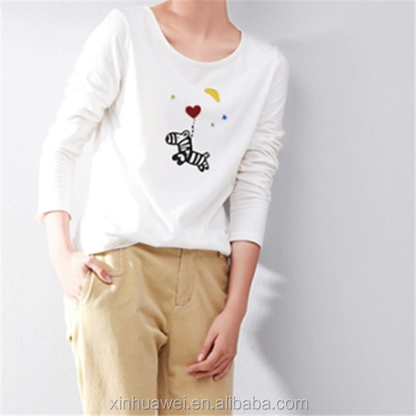 Can Do Customized Ladies Top Tee White Very Low Price