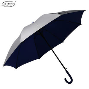 Straight Rain Men's Classic Extra Umbrella Hook Handle custom printed parasol