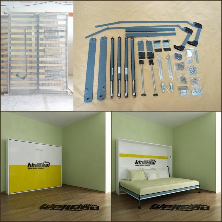 Queen size cama de la pared cama plegable mecanismo camas - Mecanismo para camas abatibles ...