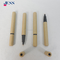 Factory Directly Sale Hot Selling promotional Mini paper pen ECO recycle paper pen with cap