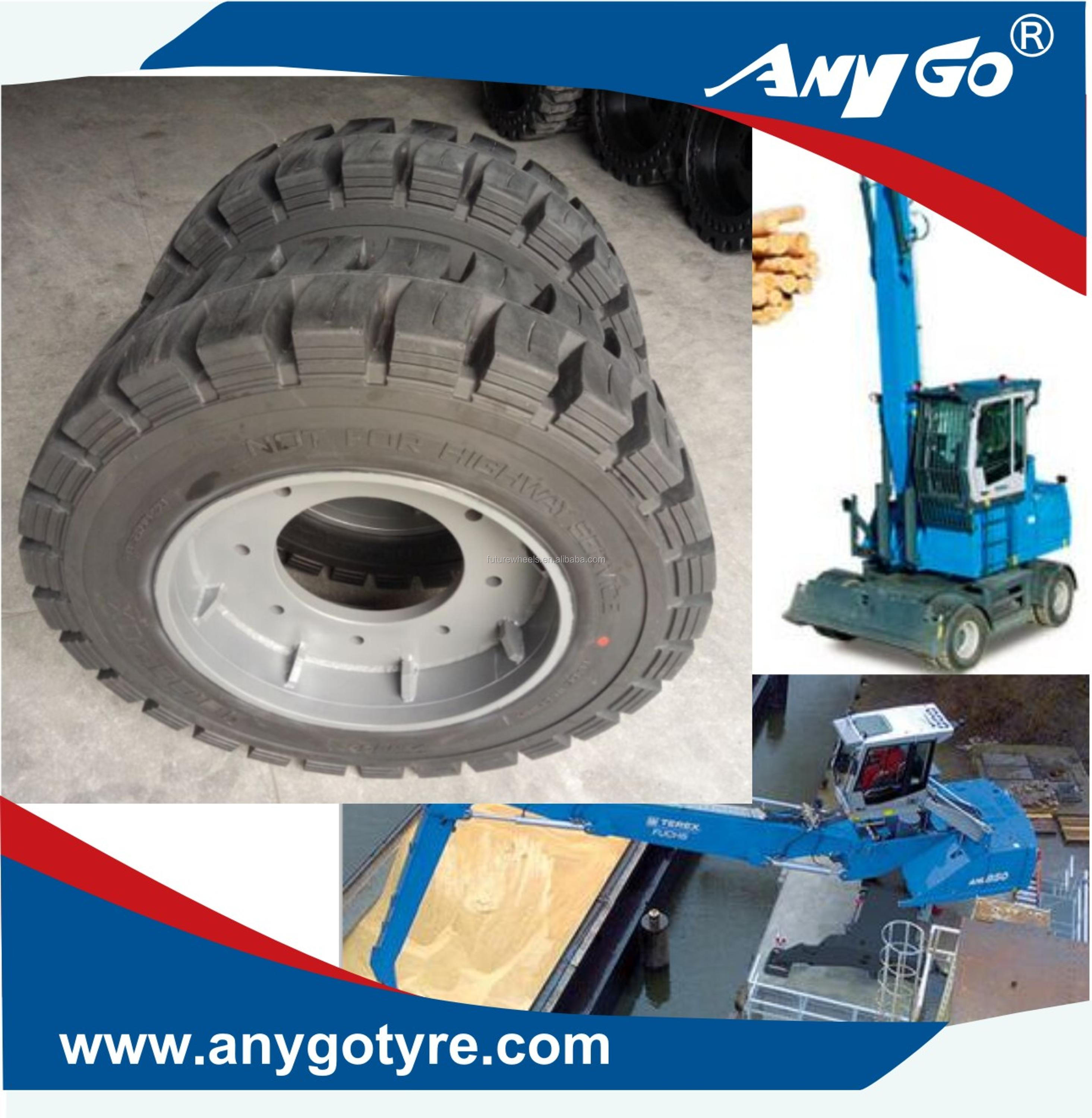 Terex Fuchs Mhl 340/350/360 Spare Part  8 50-20,9 00-20,10 00-20,11 00-20,12 00-20 Solid Tire For Waste/scrap/port  Handling - Buy Anygo Brand 8 50-20