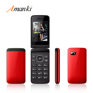 2017 New Products! OEM Amanki Factory High Quality Dual Sim Flip 2.4inch Mobile Phone with Whatsapp