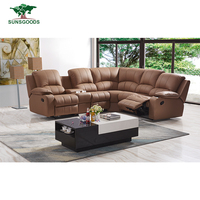 Top Quality Living Room Furnitures Leather Corner Recliner Sofa Cum Bed,Chinese Manufacturer Recliner Corner Sofa