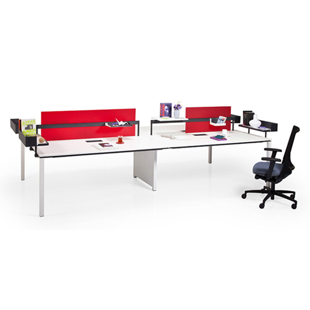 Wholesale office desk table for 4 person Stainless steel office workstations