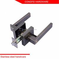 Zinc alloy antique brass tubular lever handle door lock