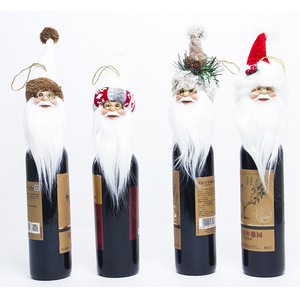 Christmas decorations mini santa claus ornaments doll wine bottle toy christmas tabletop decor for christmas