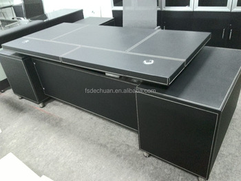 Hot Leather Office Table Executive Ceo Desk