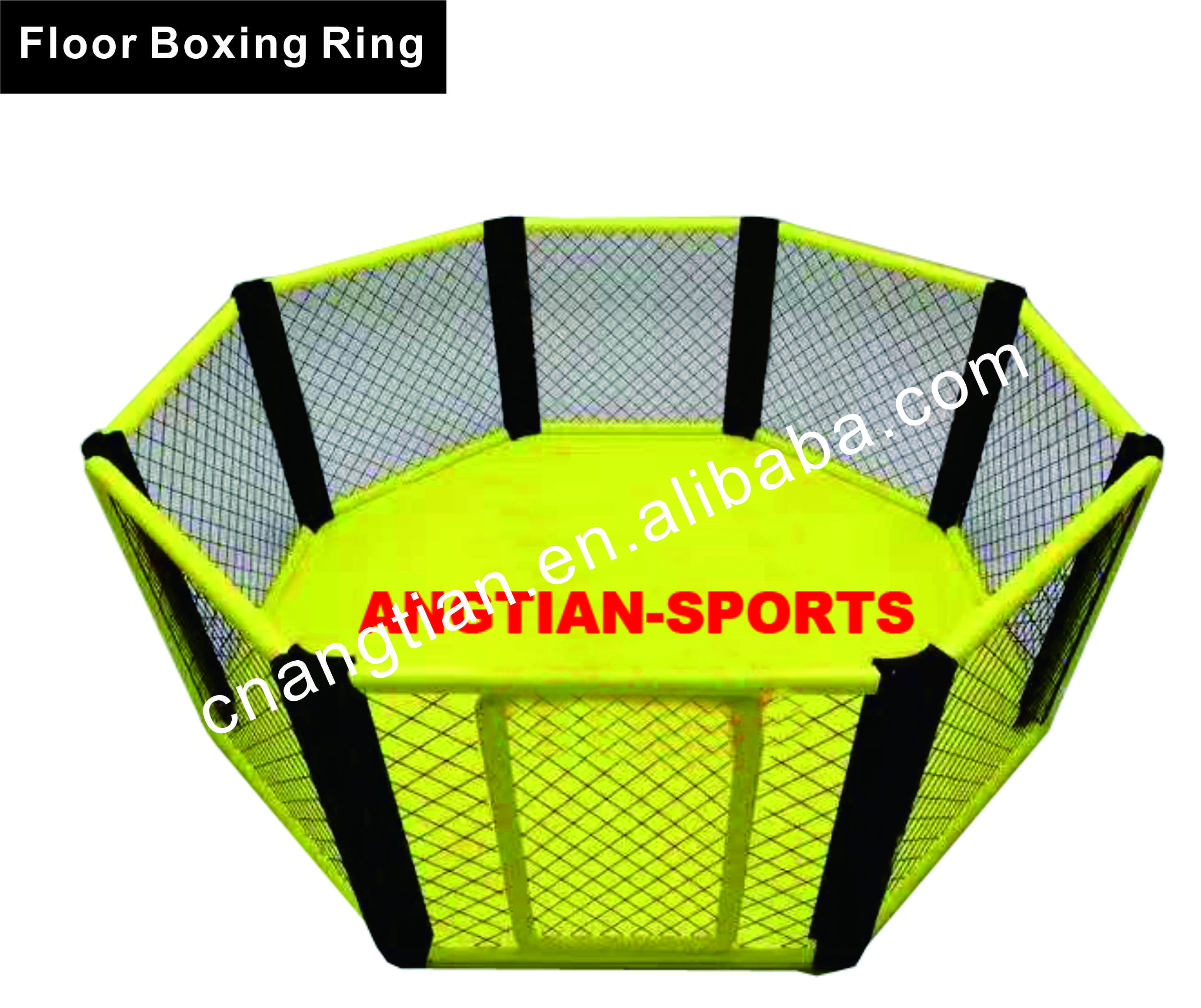 cheap customized used octagon boxing ring floor mounted mma cage