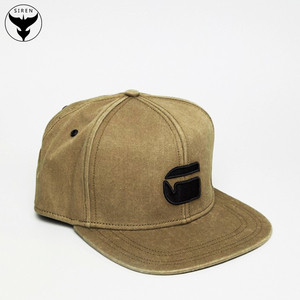 785811c1480 Siren 6 Panel Stone Washed Custom Flat to Flip Brim Embroider Snapback Cap  High Quality