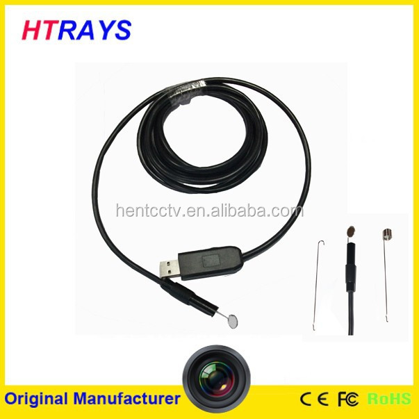 High resolution 1600x1200 2MP mini 9mm portable sewer pipe endoscopic handheld industrial endoscope