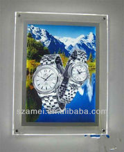 wall mount led light acrylic picture/photo frame
