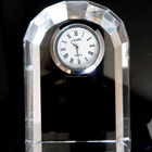 China Supplier New Design Crystal Desk Clock For Souvenir Gift