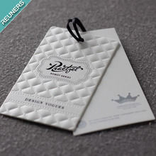 Custom leather swing tag hang tag for clothing