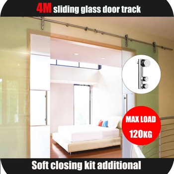 304 Ss Double Exterior Frameless Glass Sliding Door Track Systems
