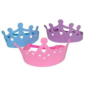 Foam Princess Tiaras Crowns Party Dress-up Role Play Accessory (3-Pack of 12)