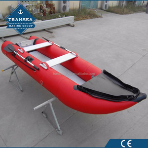 CE certificate PVC inflatable fishing canoe kayak for 4 people