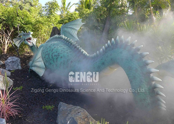 High Simulation 3D Model Artificial Dragon Statue