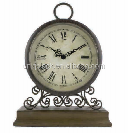 MDF wood mantle table clock