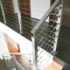 new design professional indoor balcony mirror polish stainless steel handrail cable railing system
