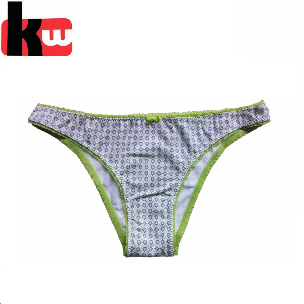 Lovely Cute Underwear Stripes Bow Cotton Briefs Panties Hipster Underpants n ra