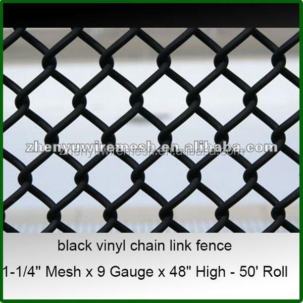 Black Vinyl Chain Link Fence Details – Name