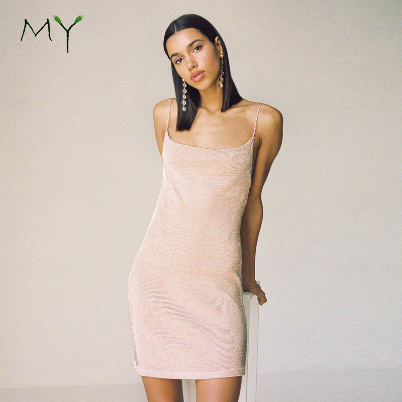 2a3d8b936ead Pale Pink Knitted Sweater Slip Dresses Shimmering Daily Casual Summer Slip  Dress - Buy Shimmering Knitted Slip Dresses,Shimmering Sweater Dress,Pale  Pink ...