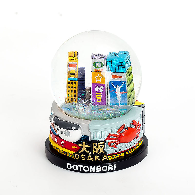 65mm Tokyo Souvenirs Snow Dome Resin Crafts Hand Painting Custom Snow Globe Japan Tourist Gifts Glass Snowball