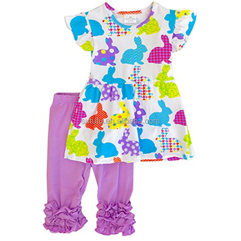 Easter Baby Girls Summer Ruffle Outfits Wholesale Boutique Clothing kids clothes