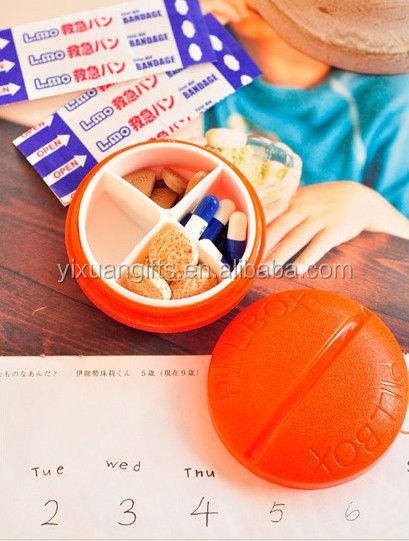pill container for holding pills, other medication, caplets, vitamins or nutritional supplements