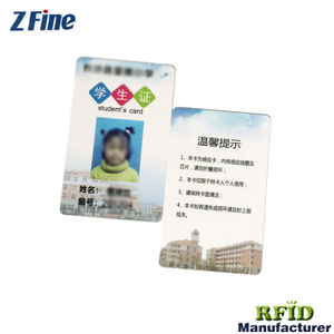 Custom Nfc Plastic Chip Card Size Format School Student Id Card Hologram Overlay