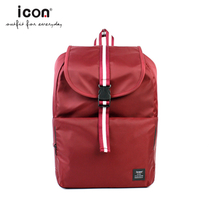 Multi-compartment pockets red nylon laptop school bags backpack for teen girls