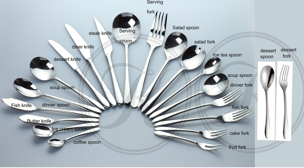 German Flatware Hotel Cutlery Used Restaurant Flatware