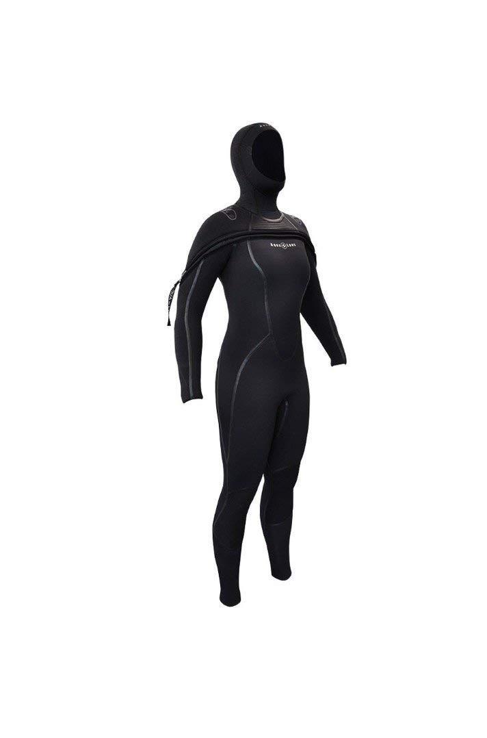 bd5808d18b Get Quotations · Aqua Lung 8 7 mm SolAfx AquaFlex Hooded Chest Zip Women s  Wetsuit XL