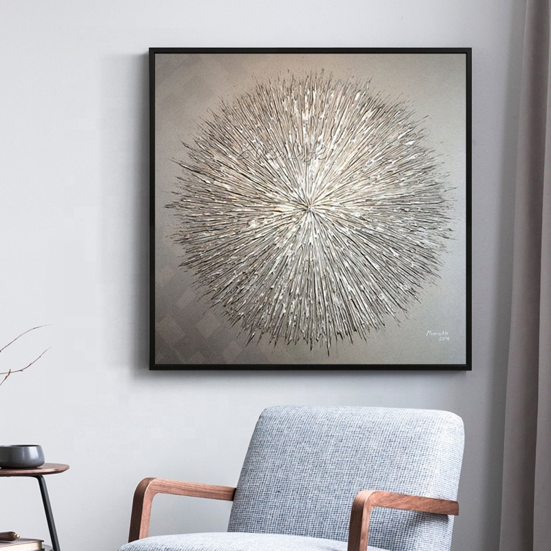 Canvas painting modern abstract wall decoracion acrylic silver painting Wall art <strong>Pictures</strong> for living room home decor