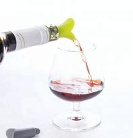 Premium High Quality Silicone Portable Wine Bottle Pourer, Cheap Price Whiskey Wedding & Bar Stopper Pourer