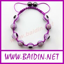 2012 shamballa bracelet evil eye beads/cheap shamballa bracelets wholesale