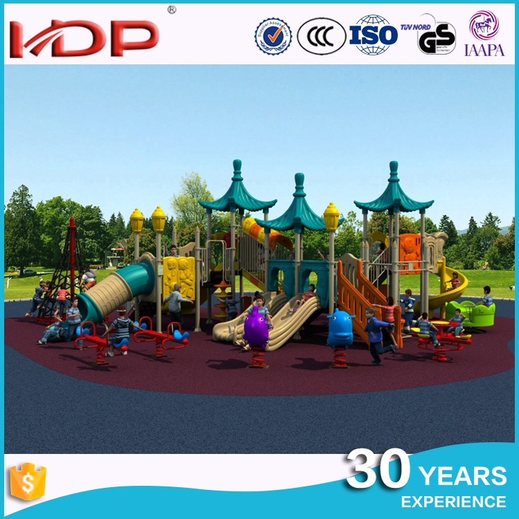 Heavy duty cheap outdoor playground equipment, plastic amusement rides