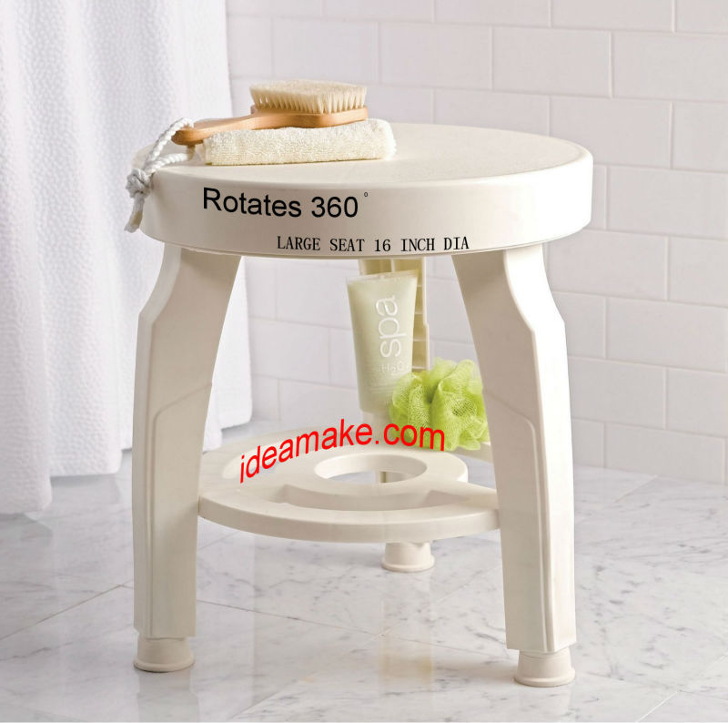 Swivel Stool 360 Degree Rotating Bath Stool Healthy Care Supply ...