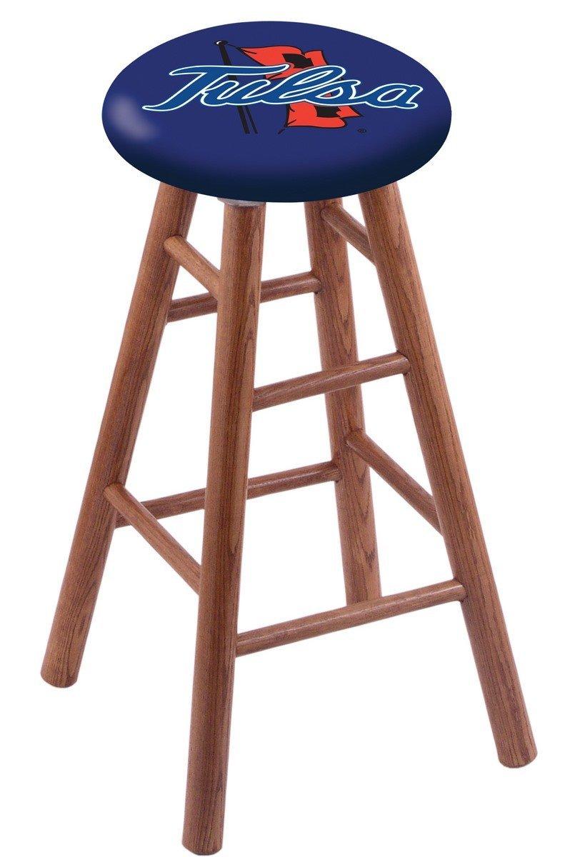 Oak Vanity Stool in Medium Finish with Tulsa Seat by Holland Bar Stool Co.