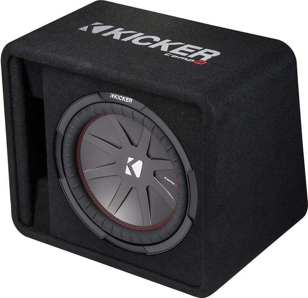 Kicker 12 Inch 1000W Loaded Subwoofer Enclosure Box (Certified Refurbished)