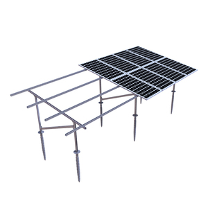 Aluminum / galvanized steel ground solar panel mounting structure