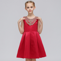 New arrival hot sale birthday wedding party cotton flower girl pretty dresses for baby girl